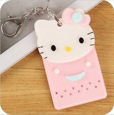 New Hello kitty cartoon ID badge credit card holder Free Shipping  gift