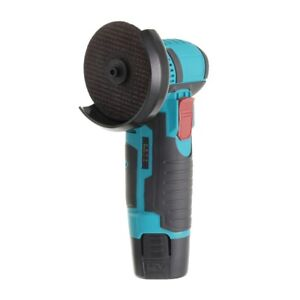 Mini Cordless Angle Grinder Brushless Polishing Grinding w/ 2 Batteries +Charger
