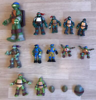 Teenage Mutant Ninja Turtles Various Years Figures Bundle Set TMNT Toys x12