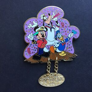 DCL - January 2003 Artist Choice Mickey, Goofy, Donald Dangle Disney Pin 18801