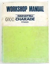 Daihatsu Charade G100 Chassis factory workshop manual April 1987