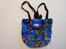 Local Design Made In Hawaii USA Small Backpack Bag Fish Turtle Coral Reef