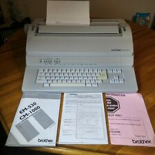 Brother Electronic Typewriter EM-530 with Manuals in Excellent Condition