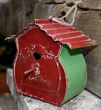 Vintage Style  Rustic  Metal   Birdhouse  Ornament      BRAND NEW