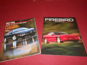 1993 PONTIAC FIREBIRD 84 p. R&T BROCHURE + 93 FIREBIRD CATALOG TRANS AM FORMULA