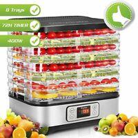 8 Layers Food Dehydrator Machine Electric Multi-layer Food Preserver Maker