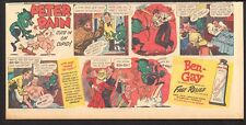 1949 - PETER-PAIN Cuts in on Cupid - BEN-GAY - Newspaper Comic ad