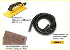 Handschleifset Mobile Phone 3 5/32x9 1/16in with Abranet Abrasive Stripes + Hose