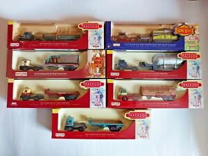 JOB LOT X7 LLEDO TRACKSIDE DIECAST SHOWMANS, BREWERY,AEC,FORDEN,SCAMMELL TRUCKS