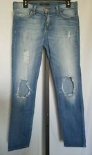 FLYING MONKEY PLATINUM Womens Jeans Destroyed Straight Leg Light Wash Sz 26 (#42