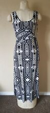 NWT Calvin Klein Maxi Dress Black/White size 2