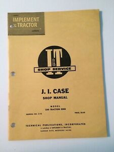 Case 1200 Traction King 4WD Tractor Shop Service Repair Manual I&T C-18 MINT