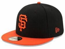 New Era San Francisco SF Giants ALT 59Fifty Fitted Hat (BK/OR) MLB Cap