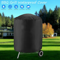 "30X28"" Round Waterproof BBQ Cover For Outdoor Barbecue Garden Patio Grill US"