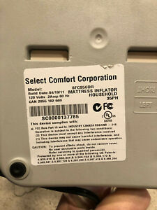 Select Comfort Sleep Number Bed Dual Hose  Pump SFCS56DR queen/ king with Remote