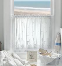 "Heritage Lace White SEASCAPE Window Tier 60""Wx30""L"