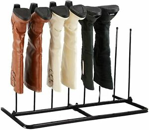 Steel Black Rack 4 Pairs Boot Holder Rack Boots Boot Holder Stand Storage