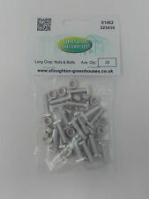 20 Long 22mm Cropped Head Aluminium Greenhouse Nuts & Bolts Elite Nuts and Bolts