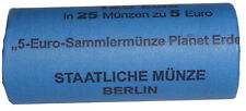 BRD: 25 x 5 Euro Bimetall Blauer Planet Erde 2016 Münzrolle A Berlin SELTEN!
