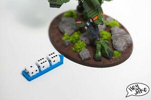 Wargaming Wound Marker Using Dice - Warhammer 40K, 30K, Age of Sigmar etc.