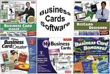 Business Card Maker Software Assortment PC Windows Sealed New