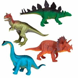 4 Dinosaurs Figures Assorted 15cm Kids Educational Gift Toy Imaginative Play