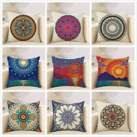 Woven Linen Geometric Cushion Cover Sofa Car Throw Pillow Case Home Decorative