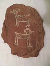 Vintage Fremont Petroglyph Slab Replica Animals from Capitol Reef NP