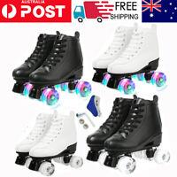 🔥 Women Men Skate Gear Soft Boot Roller Skates High Top Four-Wheel For Beginner