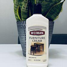 Weiman Furniture Cream with Lemon Oil, 8 fl oz.