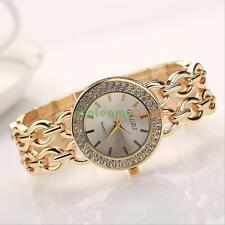 Luxury Women Ladies Crystal Stainless Steel Bracelet Quartz Analog Wrist Watch