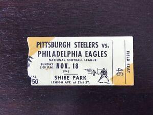 1945 Philadelphia Eagles vs Pittsburgh Steelers NFL Ticket Stub 11/18/1945