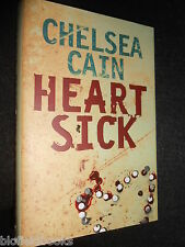 SIGNED COPY; Heartsick by Chelsea Cain (Hardback, 2007-1st) Gretchen Lowell #1