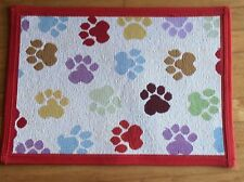 """Park B Smith Pet Rug Mat Dog Puppy Food Water Bowl  Tapestry """"World Paws"""""""