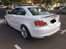 """BMW E82 1 SERIES 2011 REAR BUMPER includes inner supports White """"IMMACULATE"""""""
