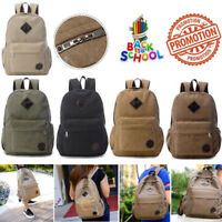 Men's Vintage Backpack Rucksack Laptop Shoulder Travel School Canvas Book Bag US