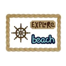Sizzix Thinlits Dies - Beach Explorer - Ship's Wheel, Rope, Pirate