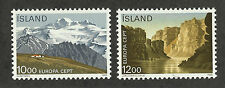 Iceland 622-623 (1986) MNH/OGnh XF/S to S {Illustrated Landscapes} 2 Stamps
