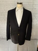 BROOKS BROTHERS 346 NAVY BLUE  BLAZER 100% WOOL GOLD BUTTONS SPORT COAT 41L