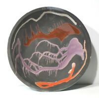 Unidentified Mid Century Modern 1960's Brutalist Art POTTERY Abstract Large Bowl