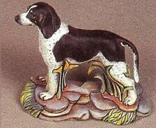 Ceramic Bisque Blue Tick or Red Tick Coonhound Dog on a Rock Base U-Paint
