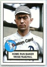 FRANK HOME RUN BAKER PHILADELPHIA ATHLETICS 1952 STYLE CUSTOM MADE BASEBALL CARD