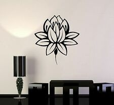 Vinyl Wall Decal Lotus Flower Buddhism Buddha Meditation Wall Stickers (ig3345)