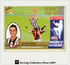 2005 Select AFL Tradition Mark Of The Week 2004 MW5 Alan Didak (Collingwood)