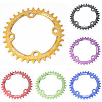 104BCD Narrow Wide Oval Chainwheel Aluminum Chainring 32/34/36/38T Bike Parts