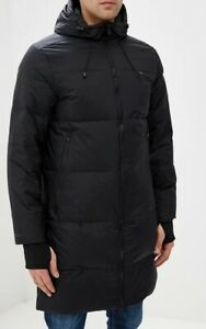 New $300 UA Under Armor Storm men's 600 fill Down Hooded Parka Long Jacket Small