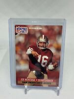 Joe Montana 1991 Pro Set Card #653 San Francisco 49ers Hall of Fame