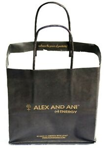 BRAND NEW ALEX and ANI JEWELRY SMALL GIFT SHOPPING BAG + GOLD SIGNATURE TISSUE