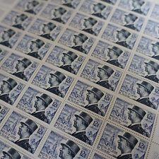 FOGLIO IN 2 PARTI SHEET FRANCOBOLLO MARESCIALLO TASSIGNY N°982 x50 1954 NEUF MNH