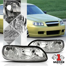 Chrome Housing Headlight Head Lamp Clear Lens OE fitment for 97-03 Chevy Malibu